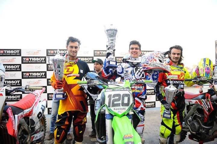 Fabien Izoird sur le podium à Milan