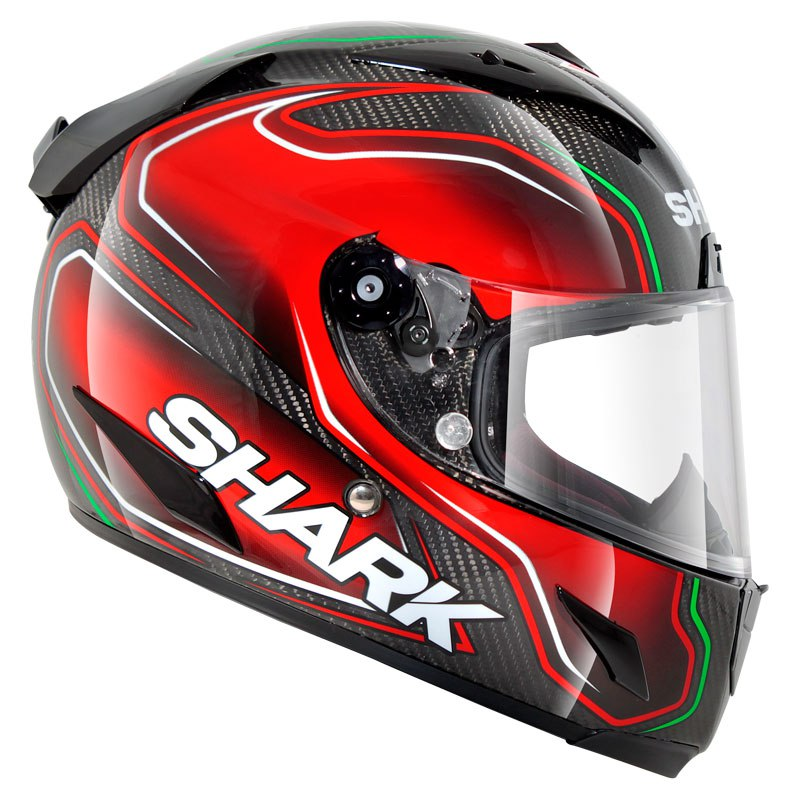 Le casque Shark Race-R Pro Carbon Replica Guintoli