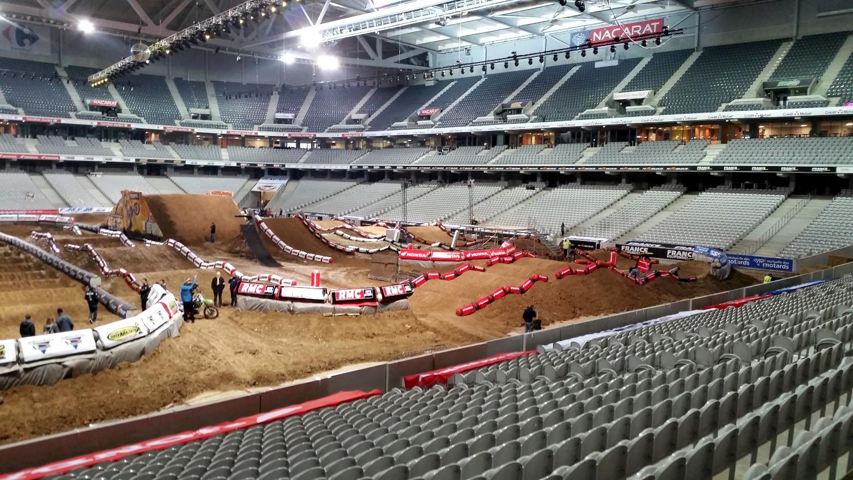 Le terrain du Supercross de Lille est prêt !