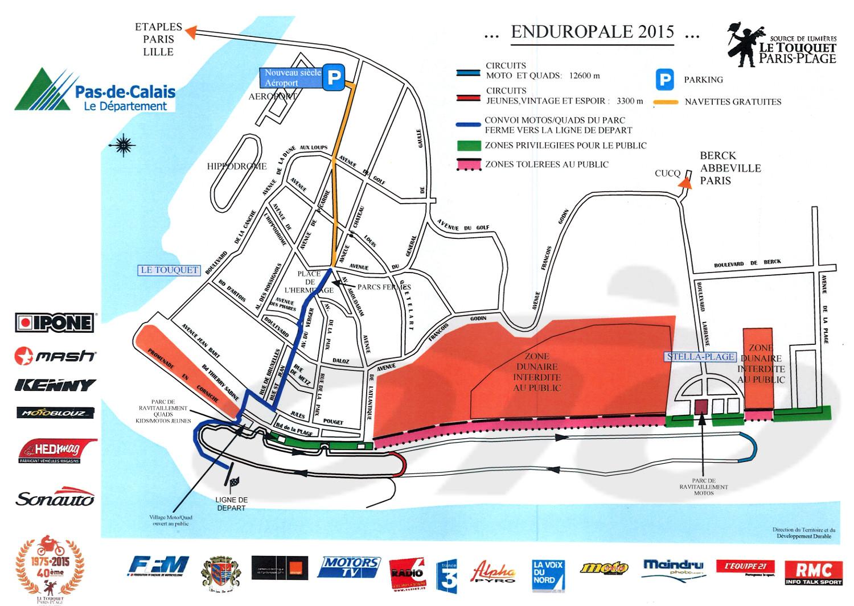 Endiropale du Touquet 2015, le plan