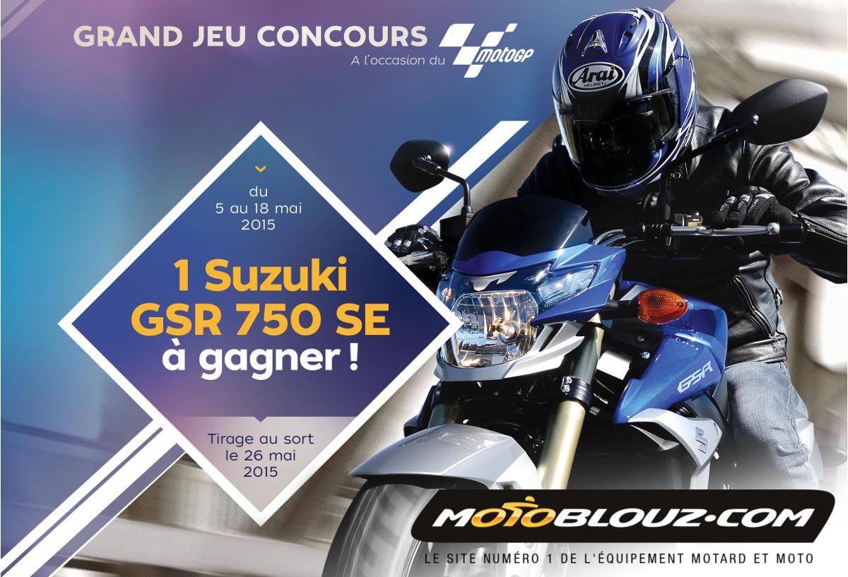 Gagnez une Suzuki GSR 750 SE avec Motoblouz !