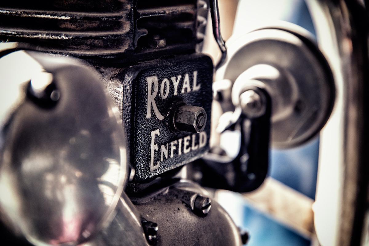 Le monocylindre de la Royal Endfield a rythmé le périple de son poum-poum