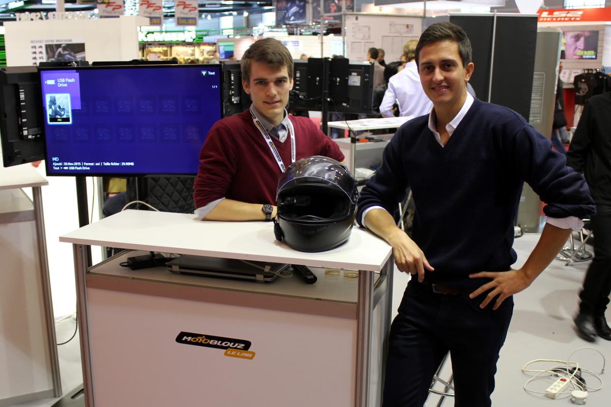 Thomas De Saintignon et Romain Duflot, créateurs de Moto Display
