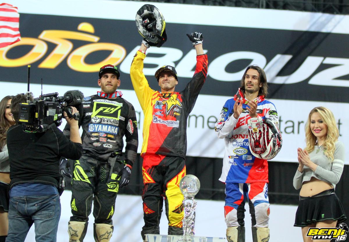Le podium SX1, Fabien izoird est troisième