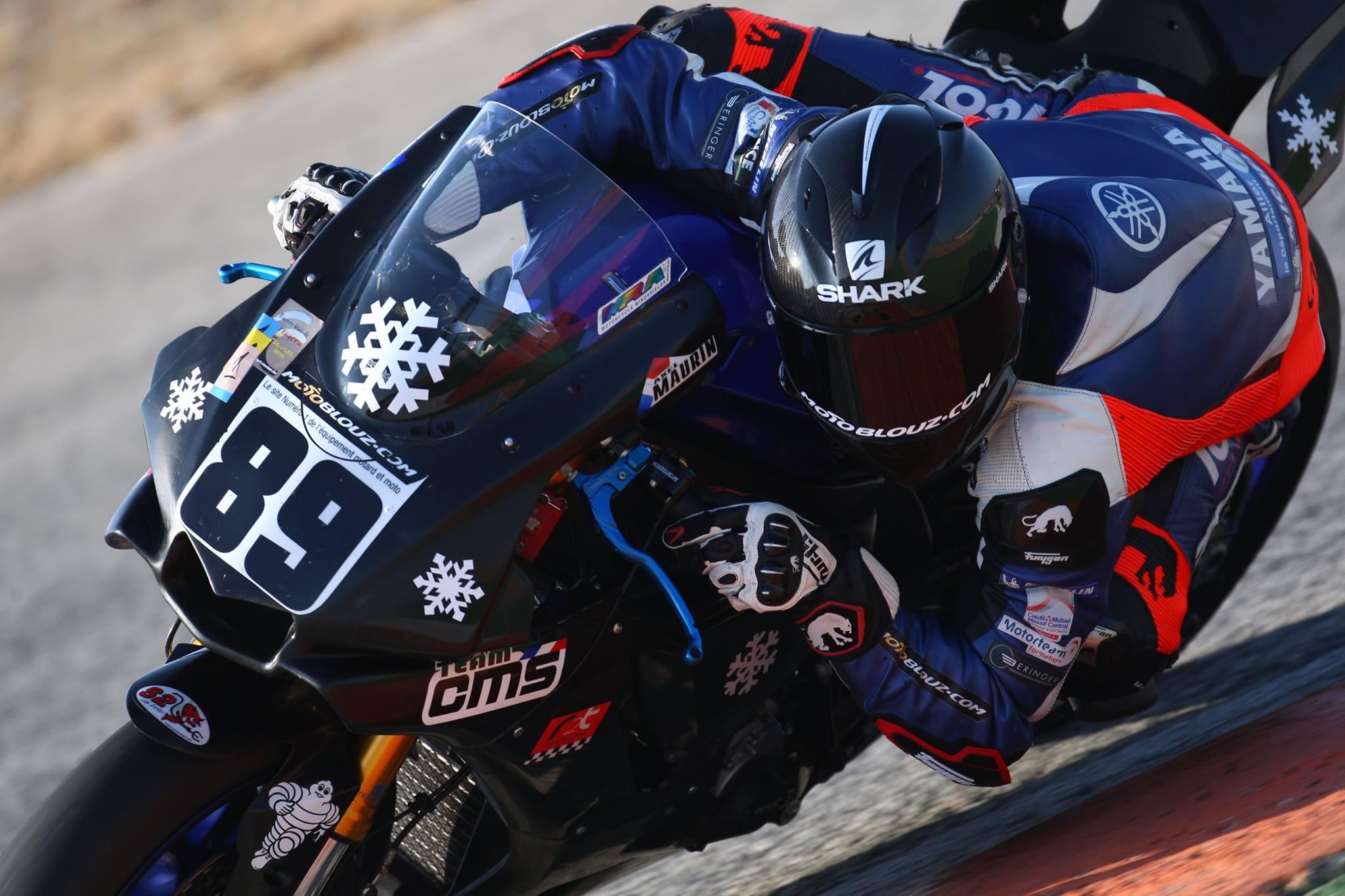 La moto et son pilote avant l'accident