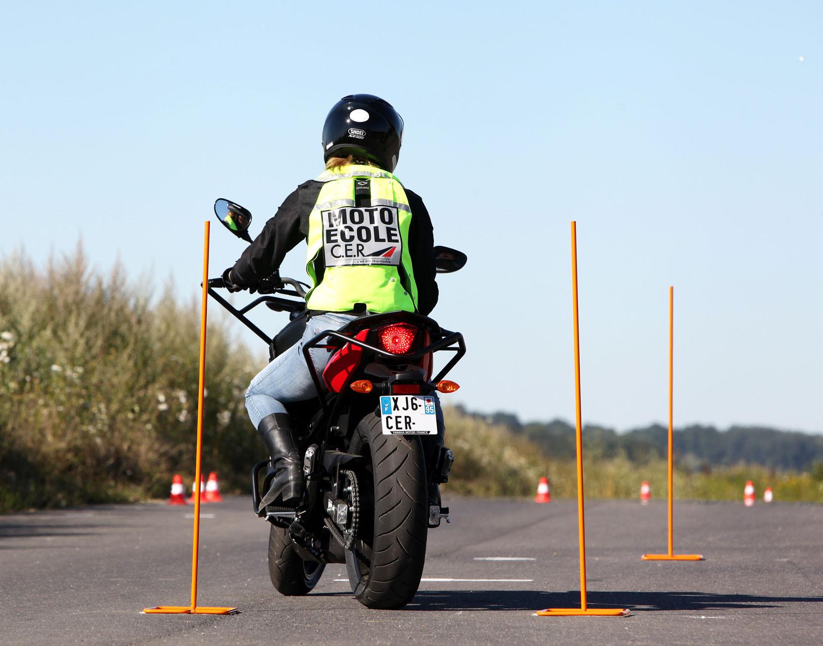 Le plateau du permis moto