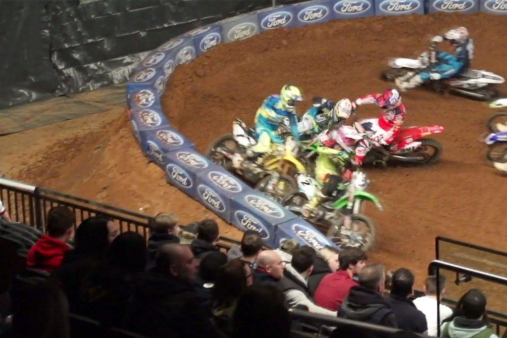 l'accident de Fabien Izoird à l'Arenacross de Birmingham