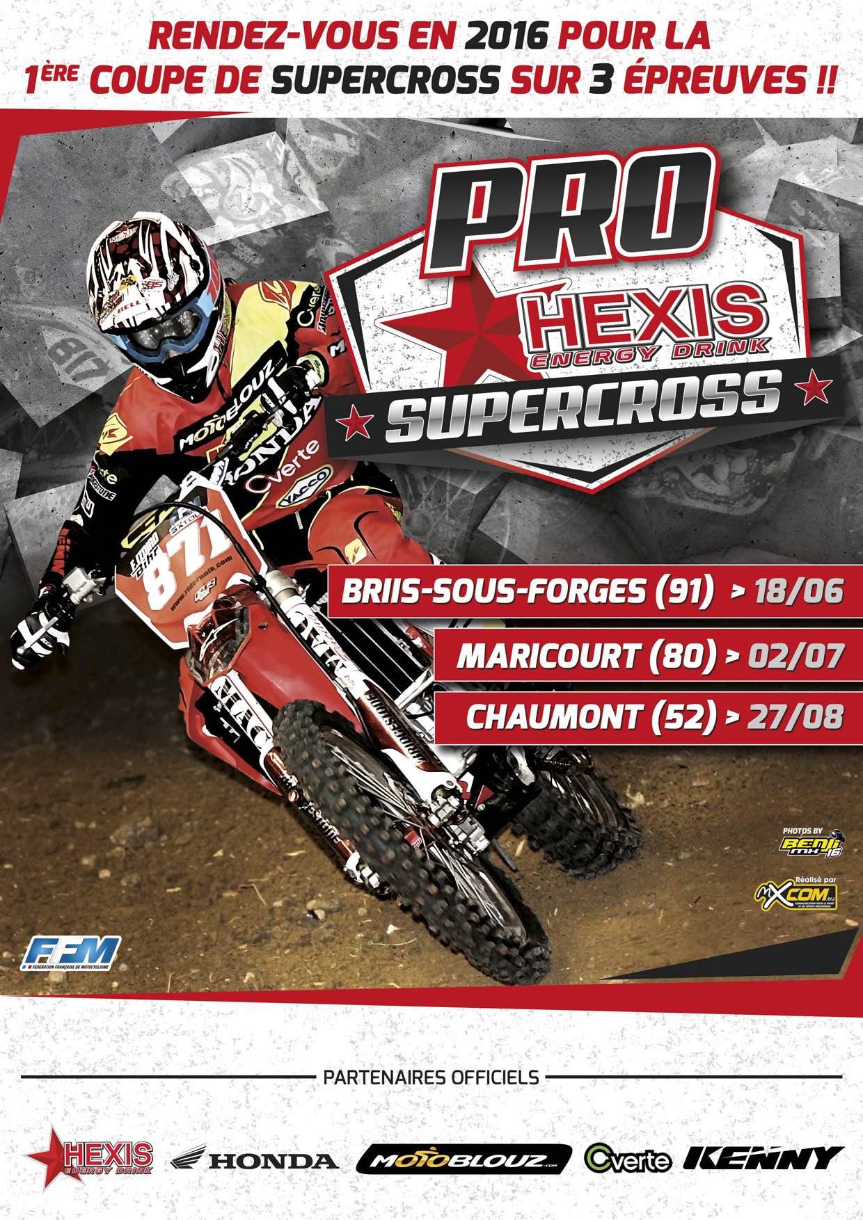 Affiche du Pro Hexis Supercross 2016