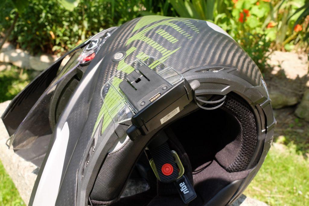 casque moto agv trail intercom