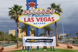Logo Motoblouz à l'entrée de Las Vegas Strip