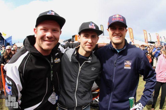 Ryan Dungey et les gagnants de la course de guidons Motoblouz