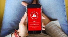 L'appli Liberty Rider présente cet écran quand vous avez un accident. Si le déclenchement est erroné, vous avez un laps de temps paramétrable pour annuler l'alerte.