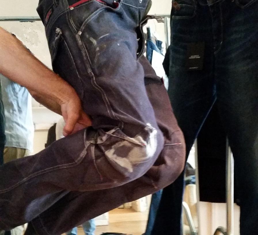 Voici à quoi ressemble le jean après une chute