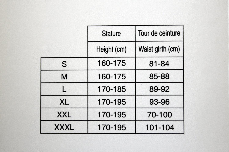 Choix de votre taille pour le jean Easy 5 : Vous pouvez faire confiance à ce tableau des tailles, fourni par 1964 Shoes !
