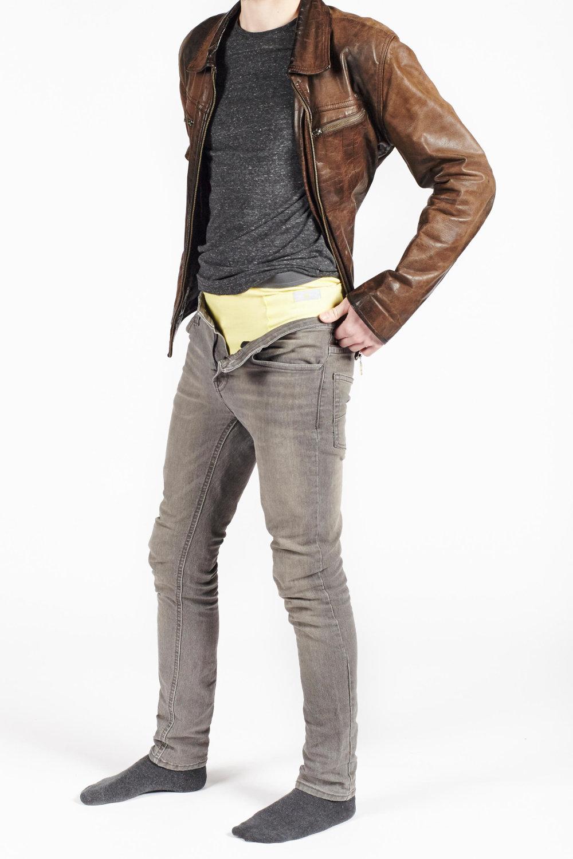 Fin et élastique, le caleçon Bowtex s'enfile en toute transparence sous votre jean, même slim
