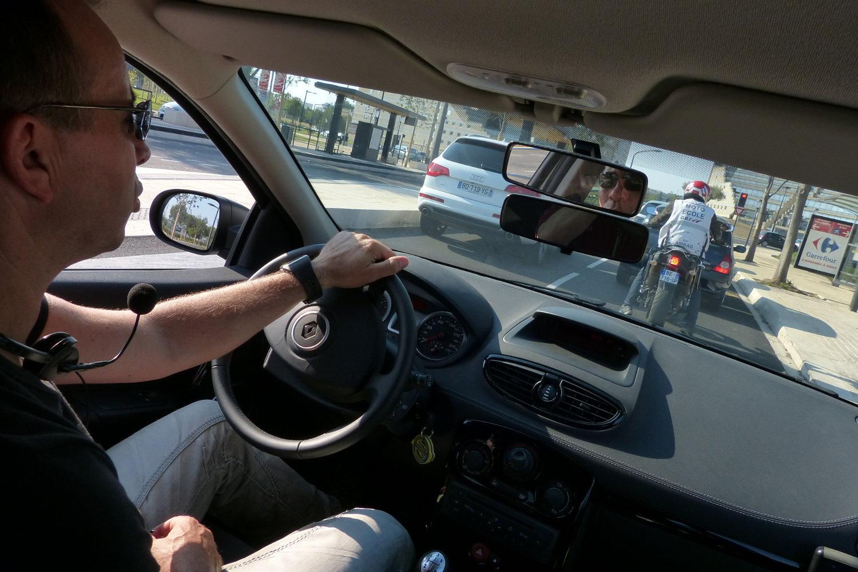 L'épreuve de circulation complète l'examen du permis moto