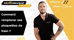 Changer ses plaquettes de frein moto, le tuto vidéo de l'atelier Motoblouz