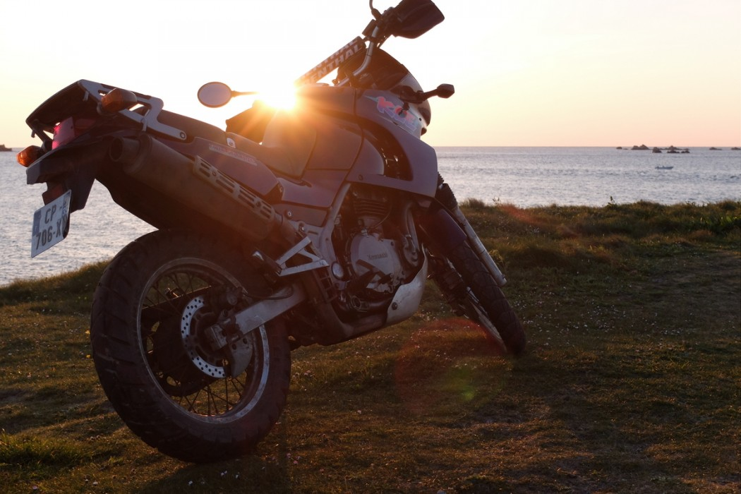 La Kawasaki 500 KLE de Baptiste avant sa préparation