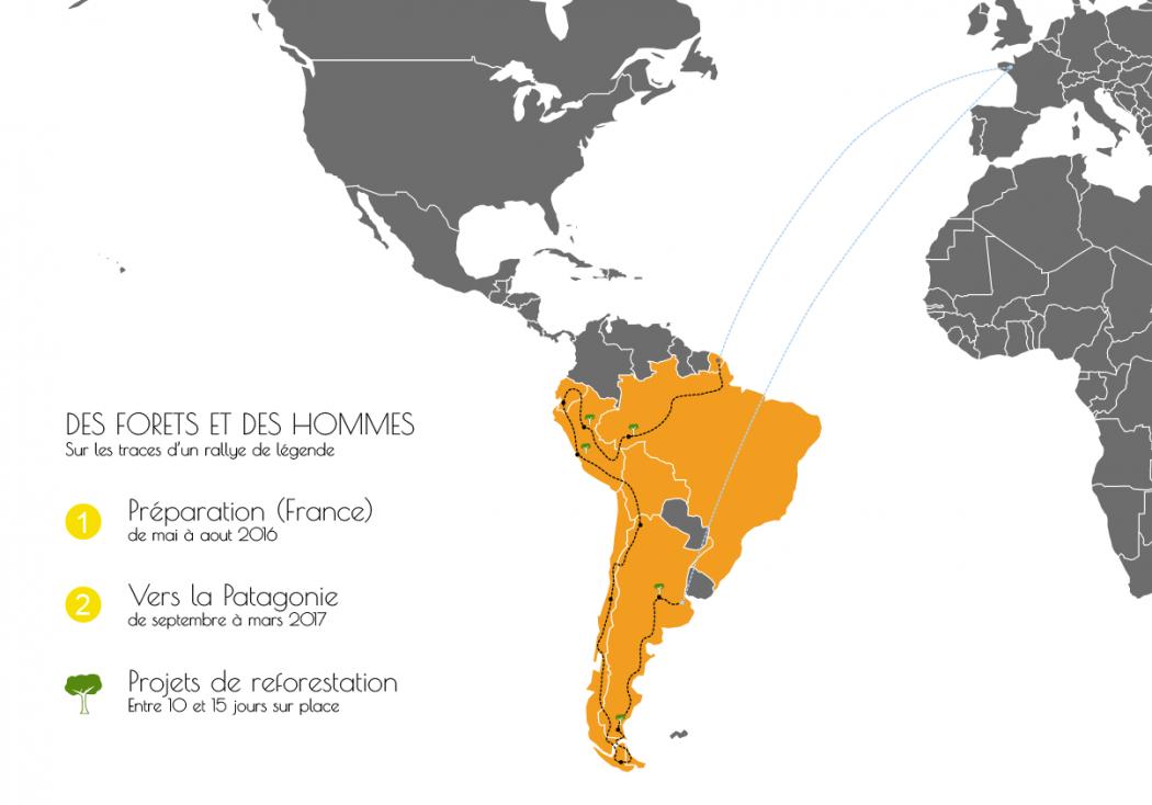 Des forêts et des hommes, le périple à moto en Amérique latine de Baptiste