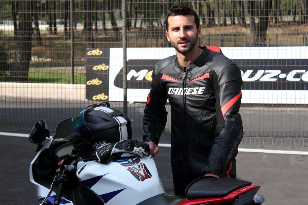 Christophe, habitué des sessions de roulage 4G Moto, a profité de l'offre Motoblouz