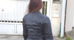 cuir bleu blouson dxr diana