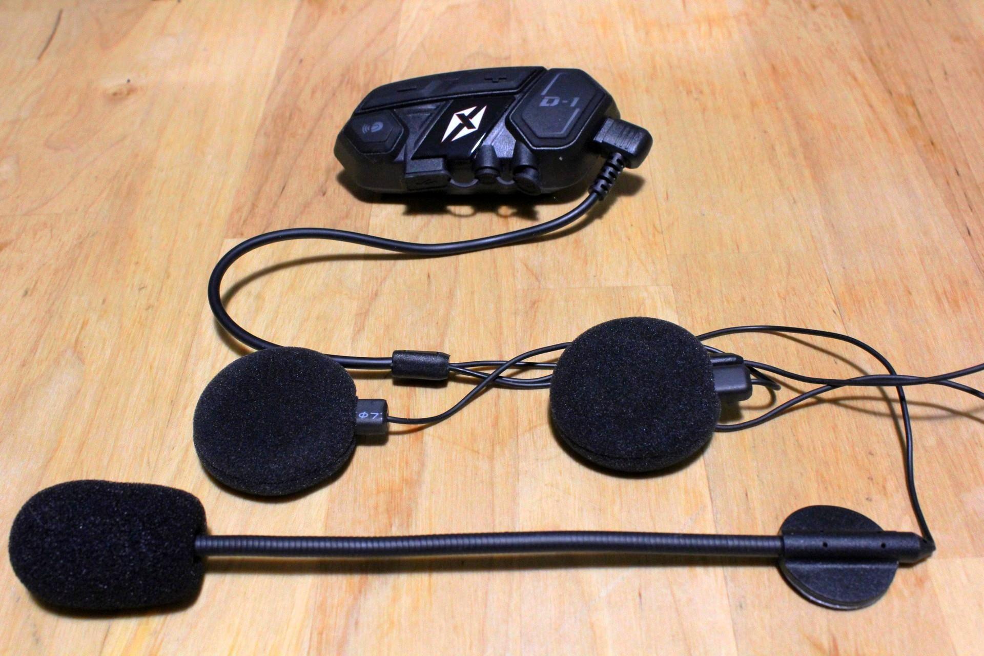 intercom, micro et écouteurs