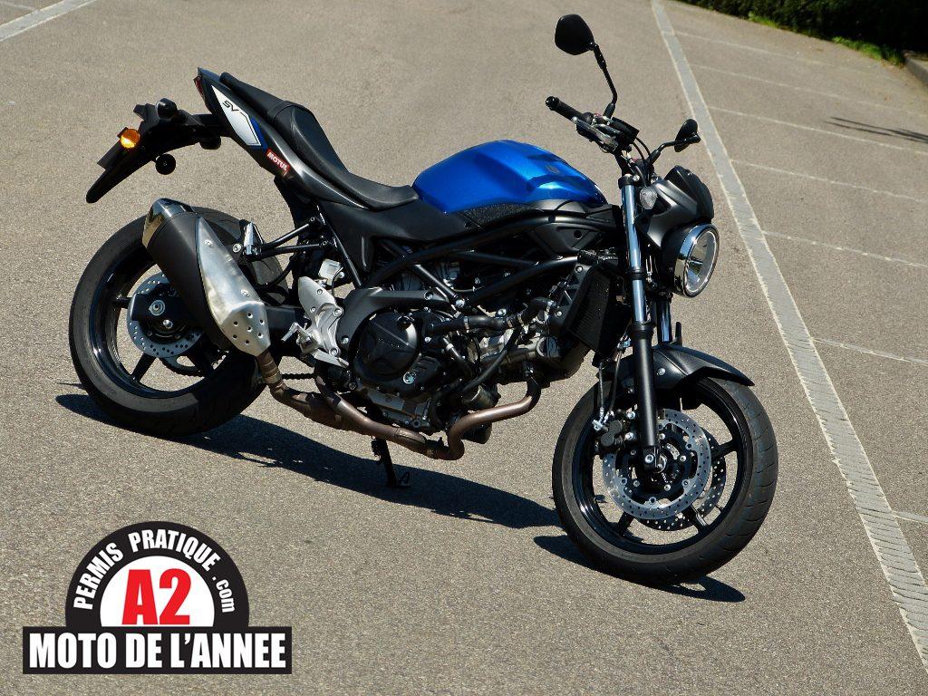 La nouvelle SV 650, élue moto de l'année 2016 par Permis Pratique !