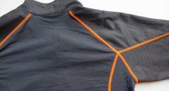 Côté pile : le tissu évacue l'humidité et stocke la chaleur