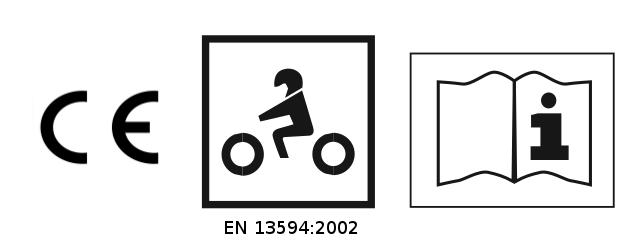 Exemple d'étiquette d'une paire de gants homologués suivant la norme EN Pour la nouvelle EN 13594:2002
