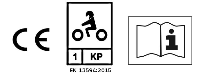 Exemple d'étiquette d'une paire de gants homologués suivant la norme EN Pour la nouvelle EN 13594:2015