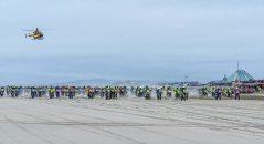 La grande ligne droite de départ est un classique qu'on retrouvera à l'Enduropale 2017 - (photo Olivier Caenen)
