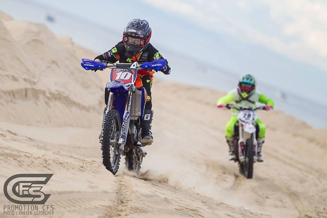 Florian Miot, actuellement en tête du Championna de France des sables catégorie Espoirs