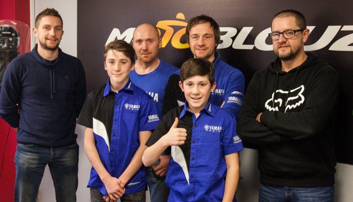Le Yamaha 2MX Motoblouz Racing Team au grand complet !