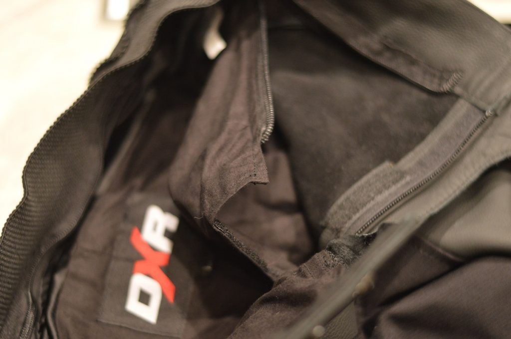 La doublure en coton du DXR Kickback