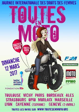 Affiche Toutes en moto
