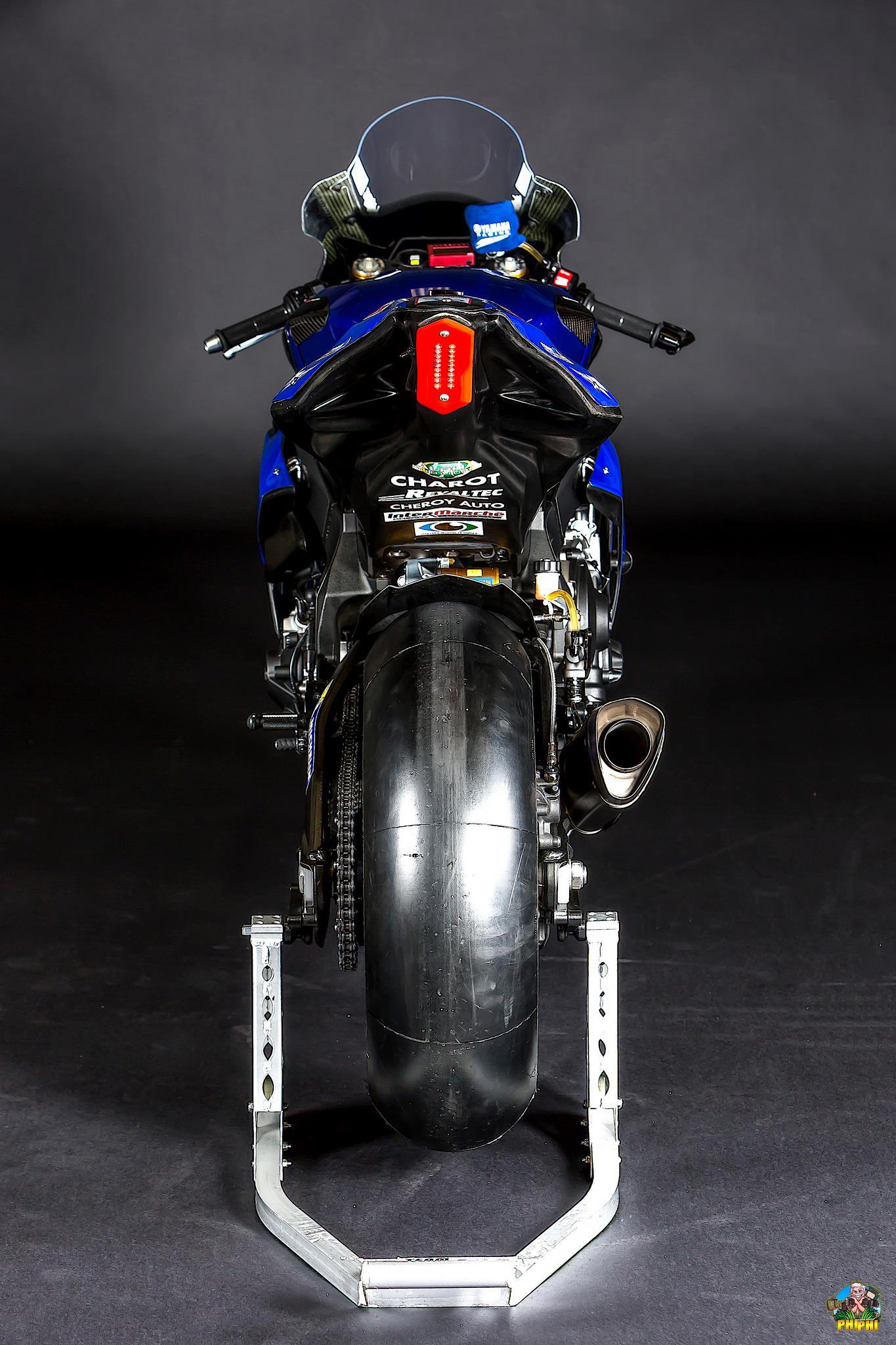 Vue arrière Yamaha R1
