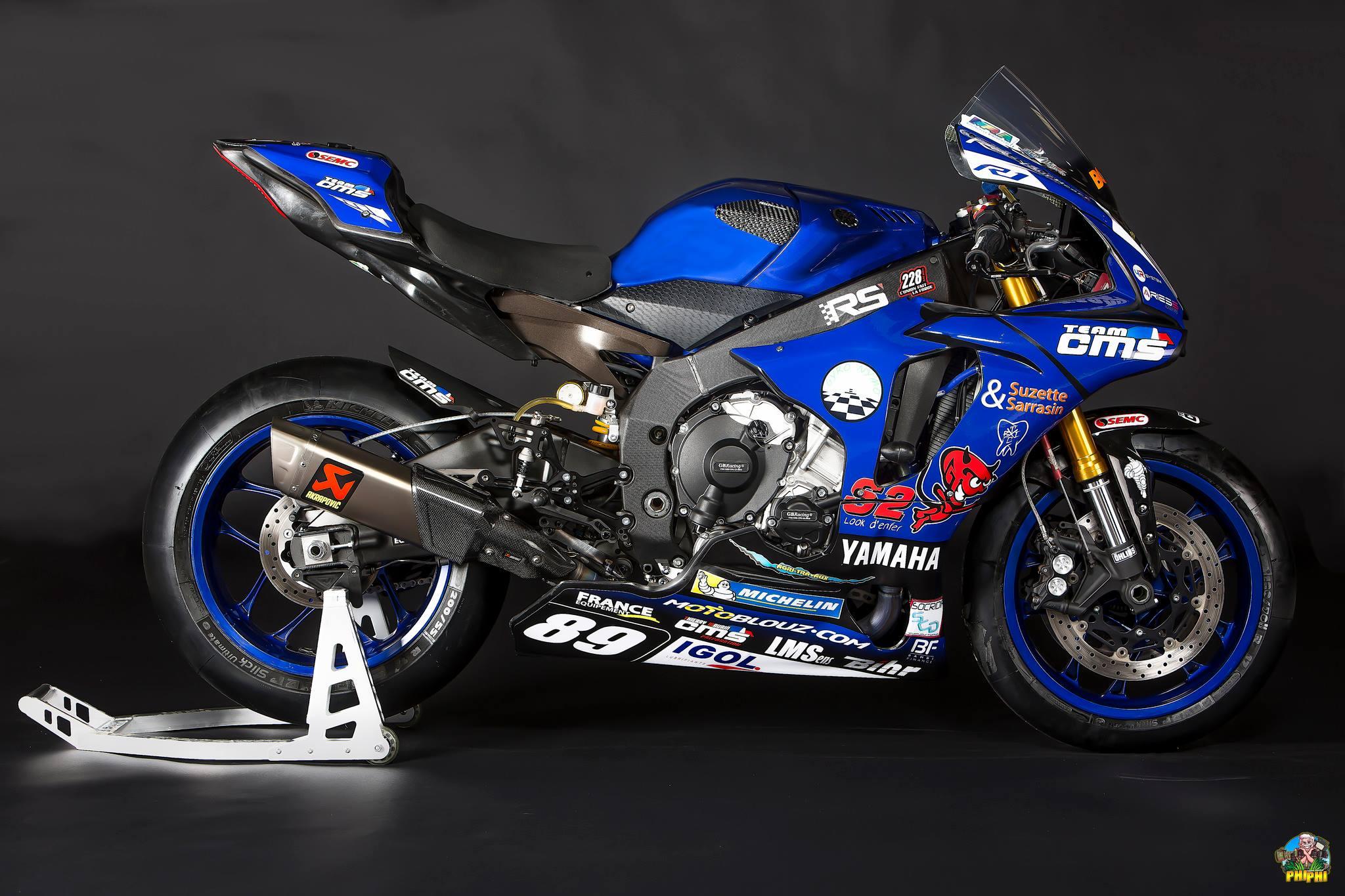Superbike : Comment le team CMS transfigure la R1 d'Axel ... Yamaha Superbike 2017