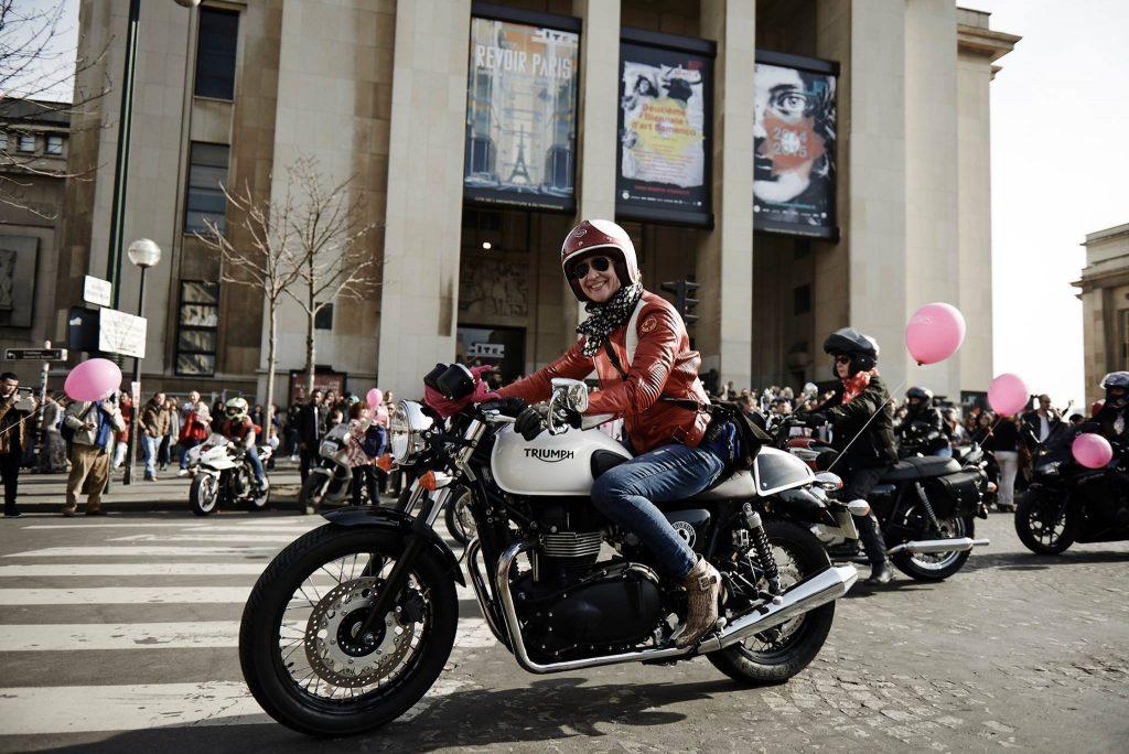 Sandrine Dufils, vice-présidente de Toutes en Moto