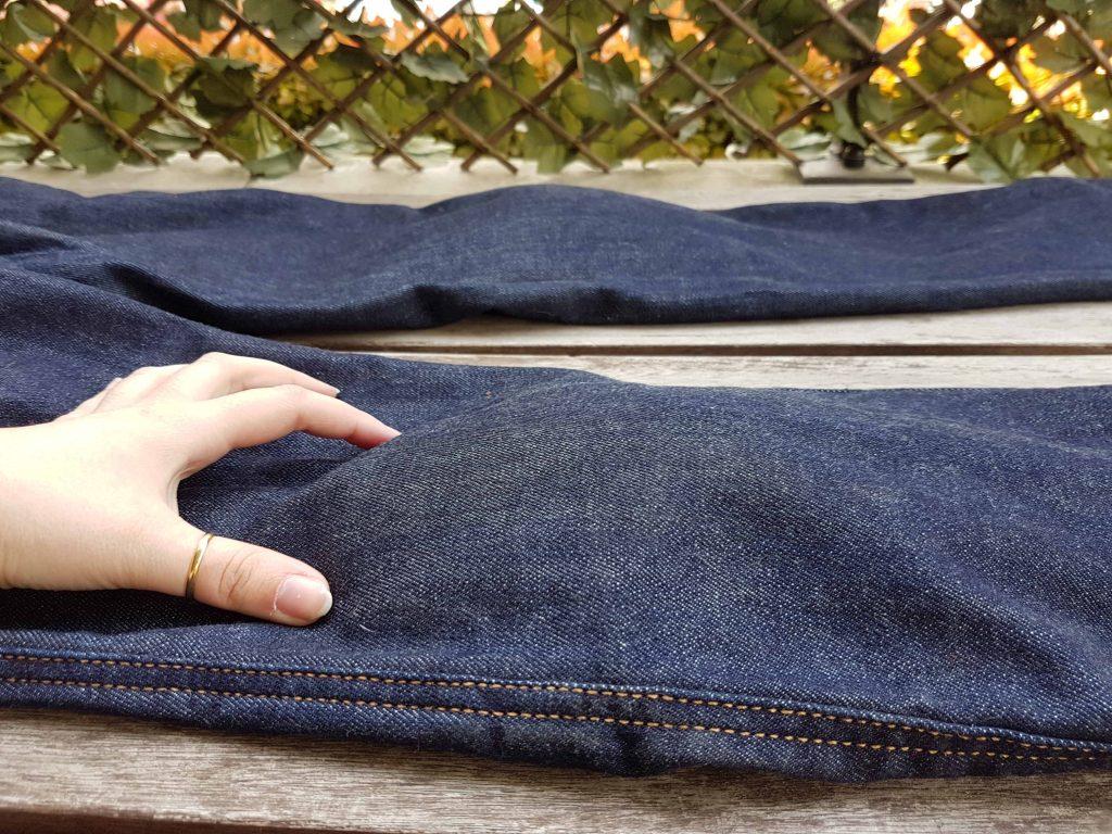 DXR Karen : vue sur les protections sous le jean