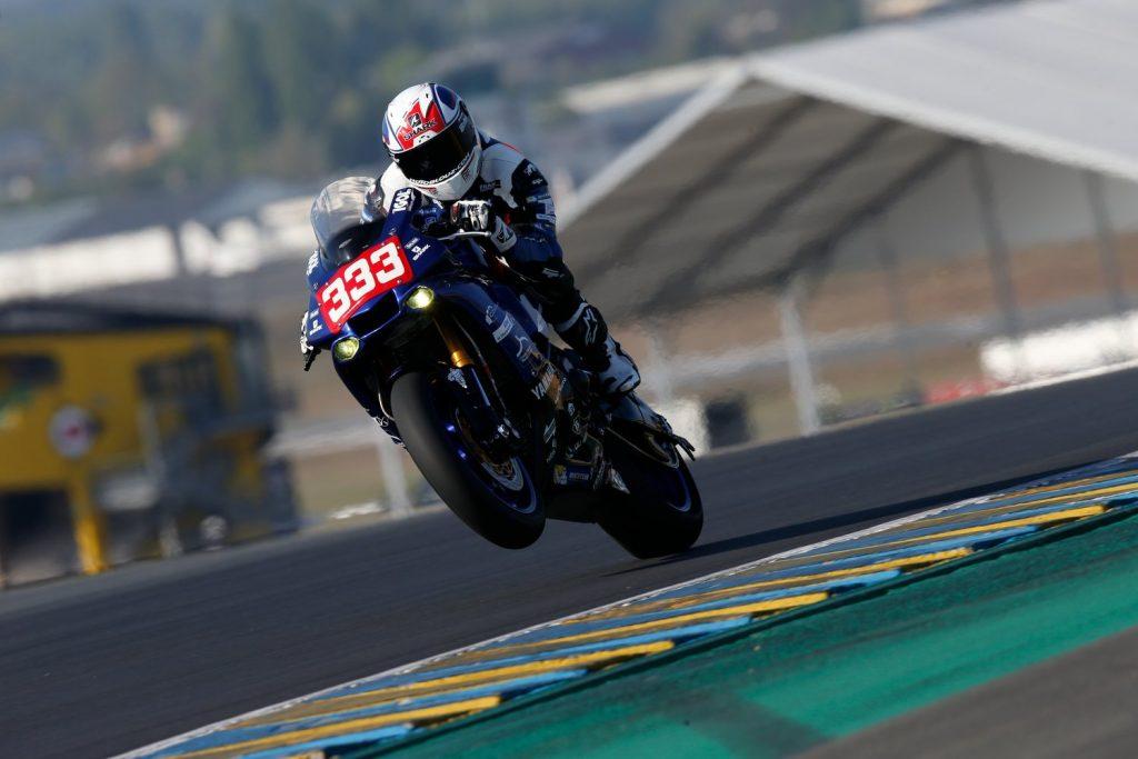 Axel Maurin pendant les essai, 24H du Mans moto 2017