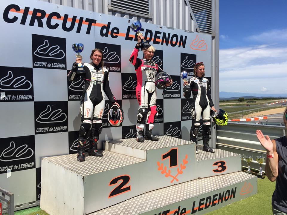 Erika Jeannot, Margaux Wanham et Gaëlle Rémy sur le podium de la Women's Cup à Ledenon ©FFM