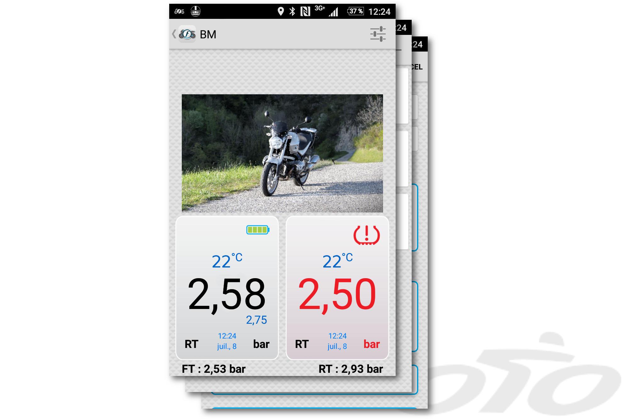 Appli TPMS Fobo Bike