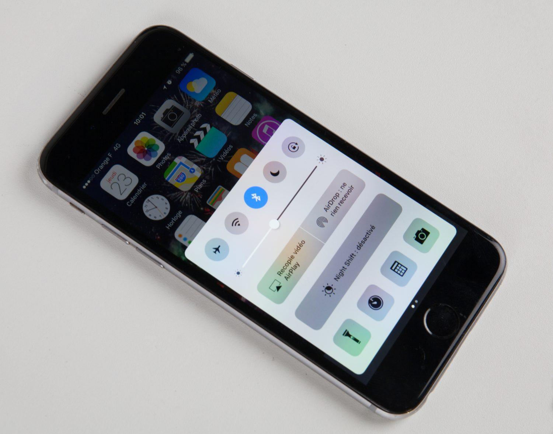 Connexion Bluetooth d'un iPhone