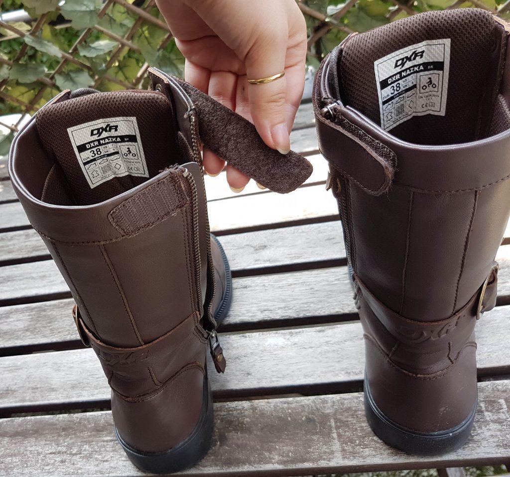 Les pattes velcro pour protéger le zip de fermeture