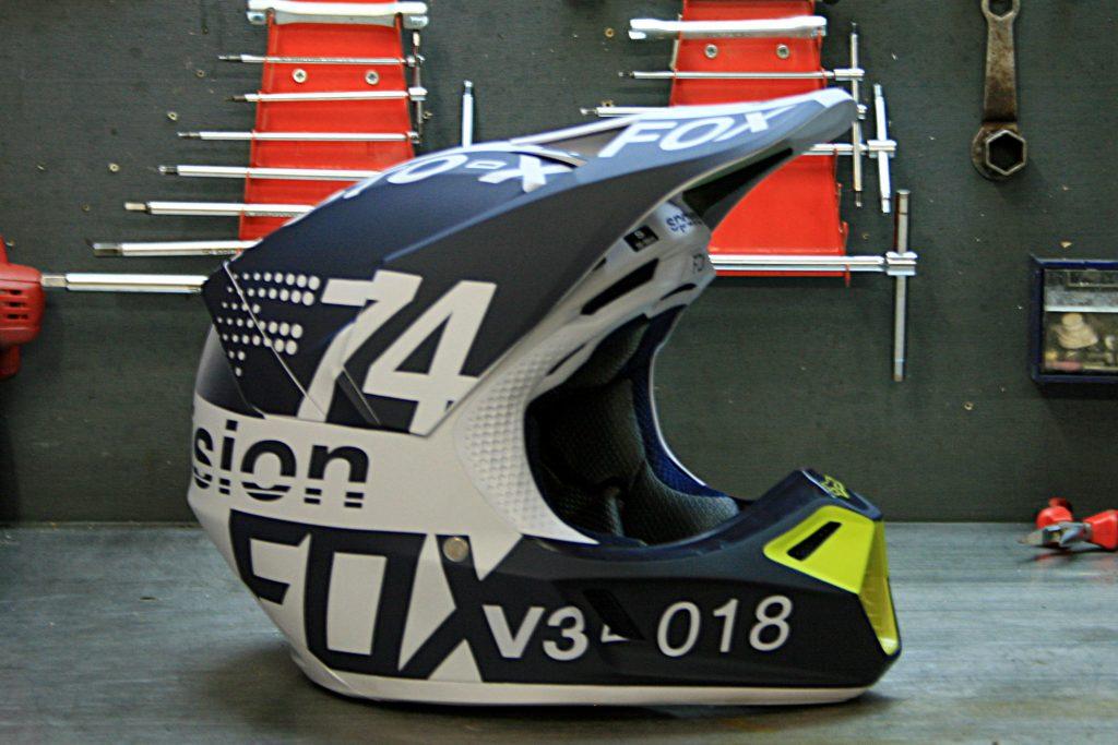 Le casque FOx V3 2018, dans sa version DRAFTR