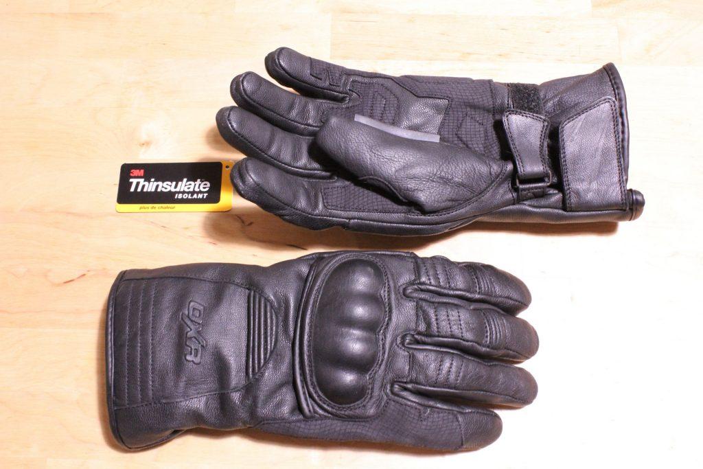 Les gants DXR Evasion sont intégralement fabriqués en cuir de vachette