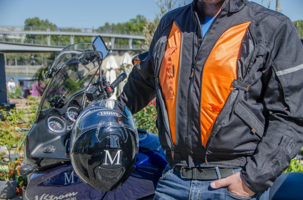 Blouson DXR D-Jacket, position ouverte