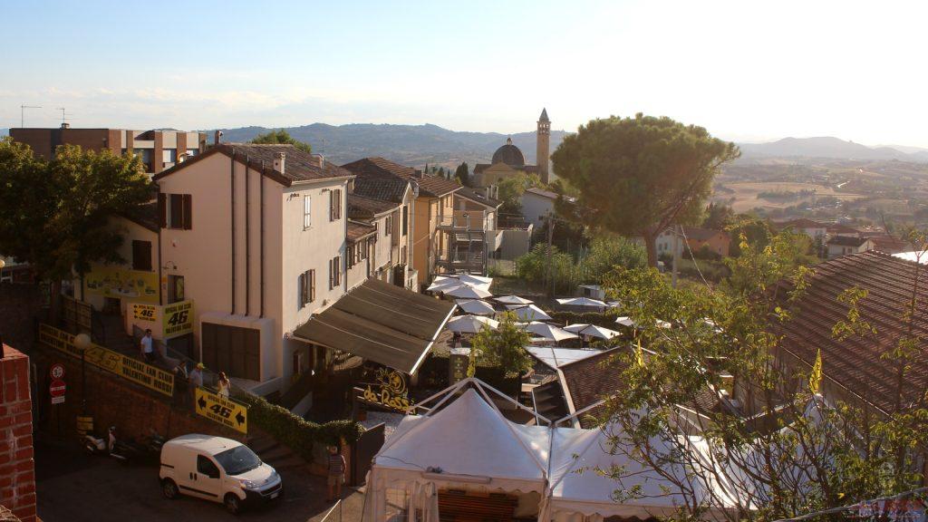 La terrasse de Da Rossi, baignée de soleil...
