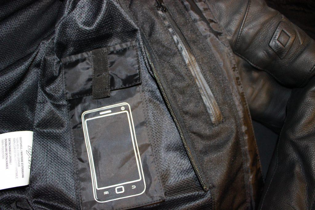 Poche pour téléphone portable du blouson moto pour femme Diva Racer de DXR