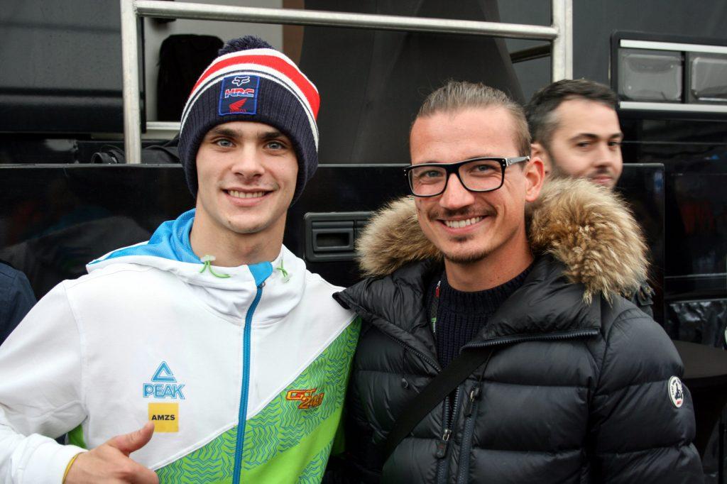 Jonhatan pose avec Tim Gajser. Veinard va !
